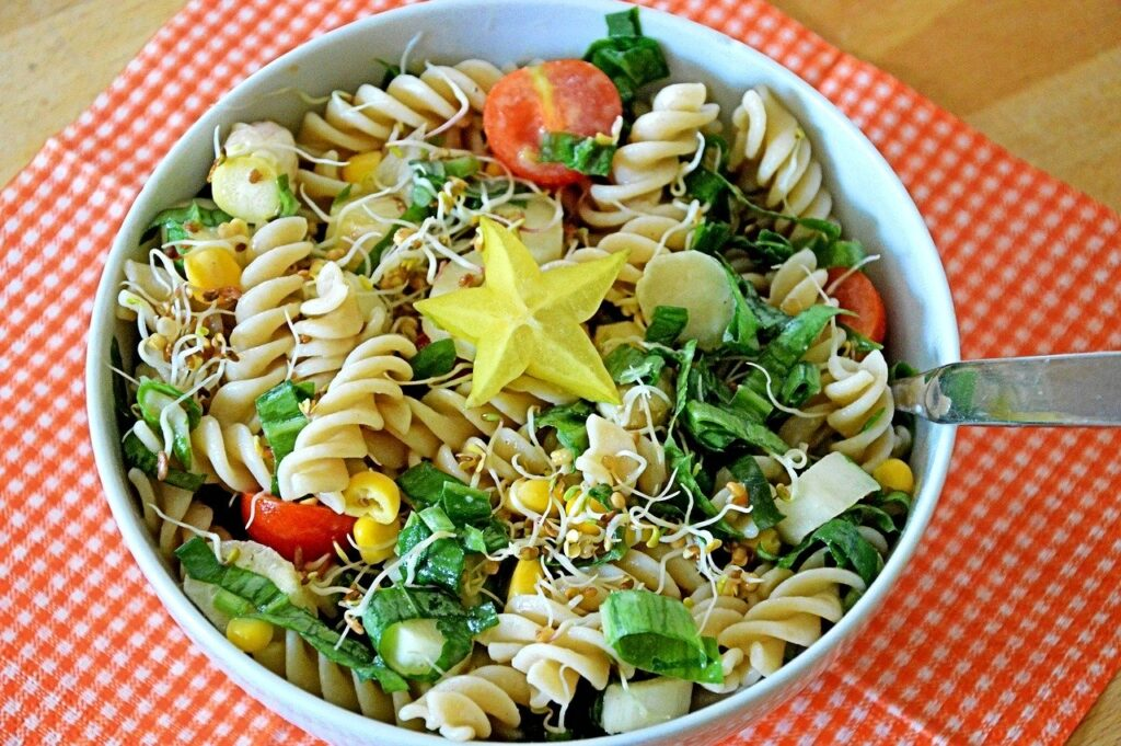 posiłki węglowodanowe makaron