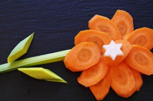 jemy oczami marchewkowy kwiatek