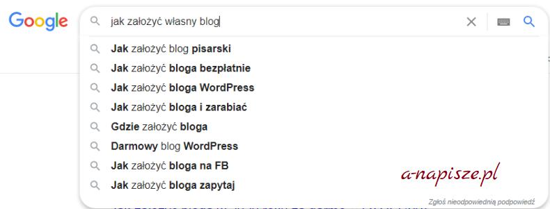 początki bloga szukanie informacji