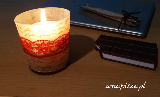 świeczka koronkowa
