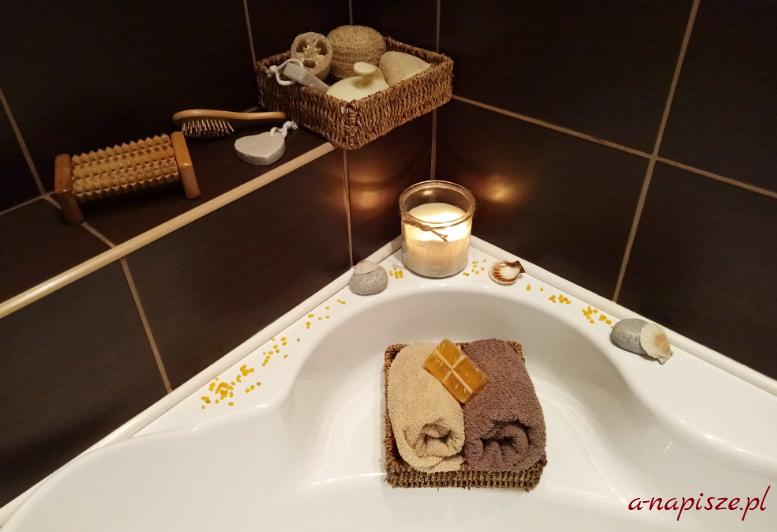 relaksująca chwila w kąpieli