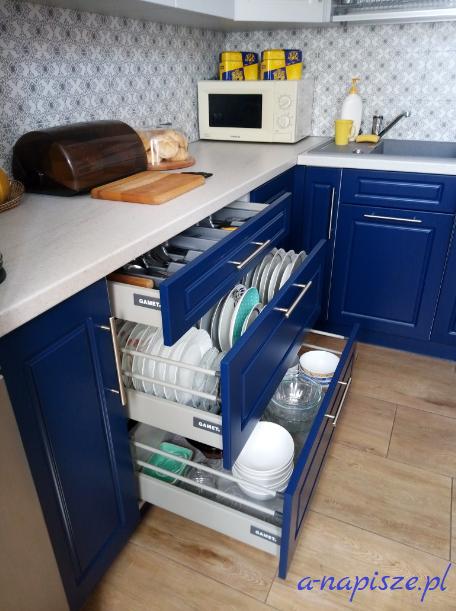 organizacja kuchni szuflady