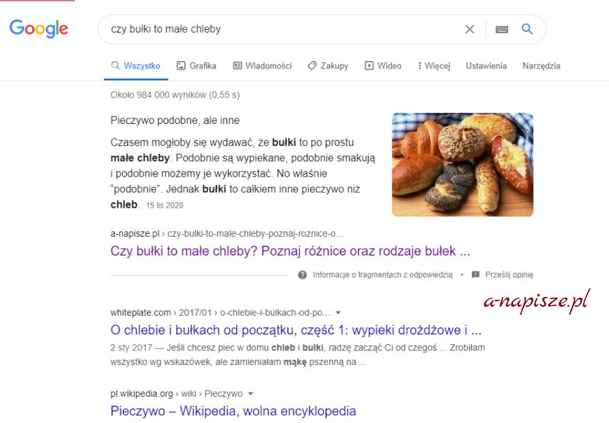 pierwsze miejsce w Google