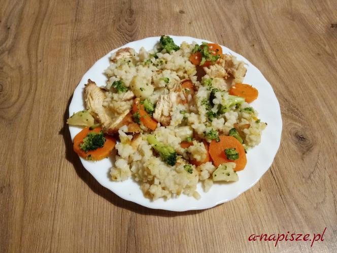 ryż kurczak warzywa jadłospis diety ONZ