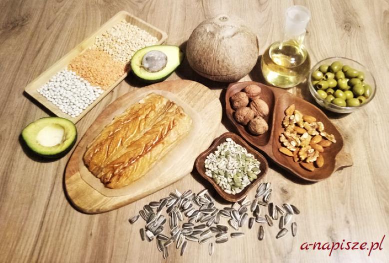 zdrowe tłuszcze nienasycone w produktach